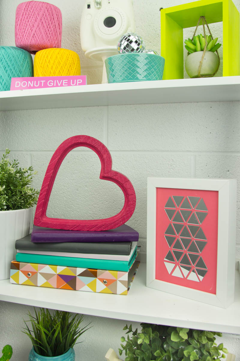 DIY Mirror Tile Art - A Little Craft In Your Day