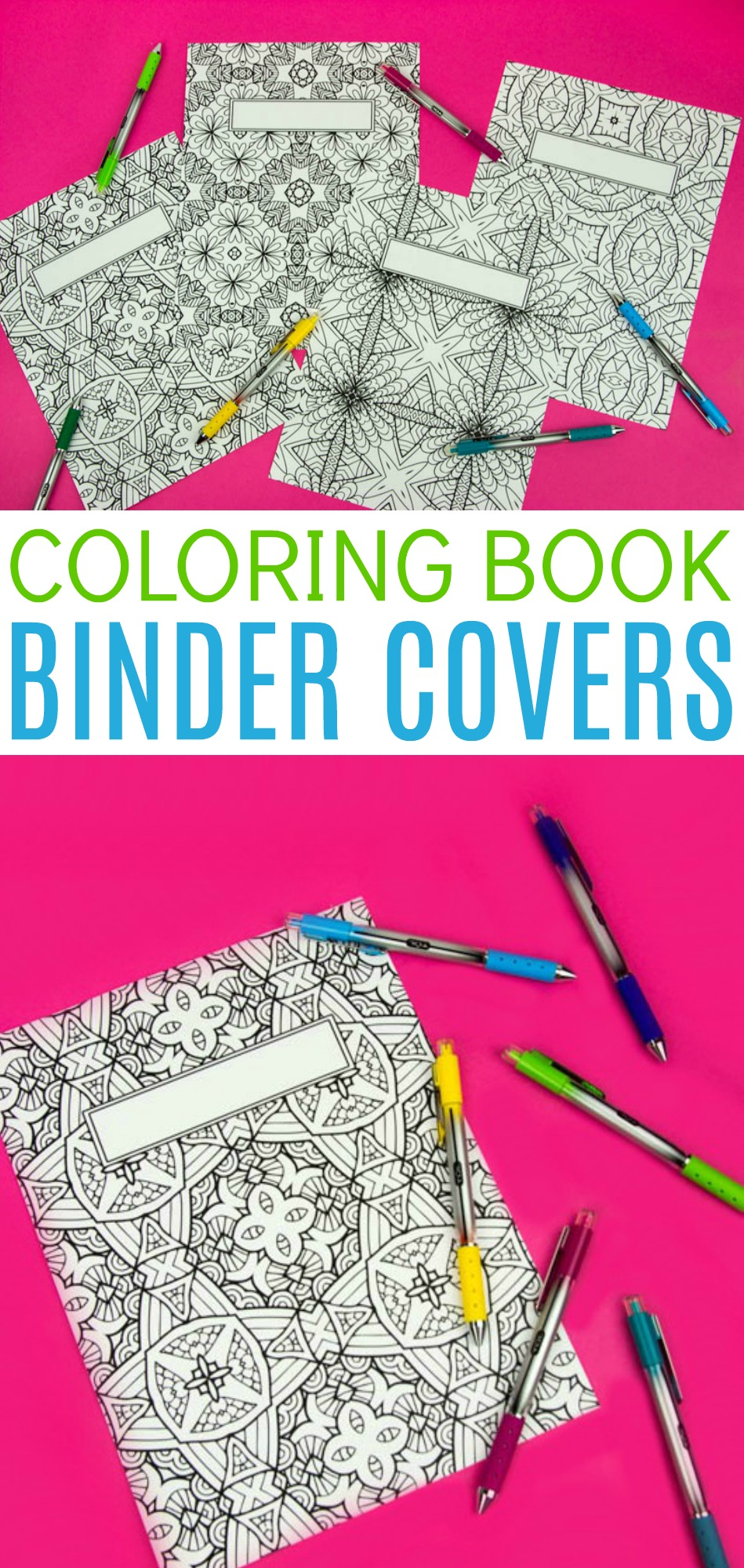 Book Cover Craft Cover : Coloring book binder covers free printable a little