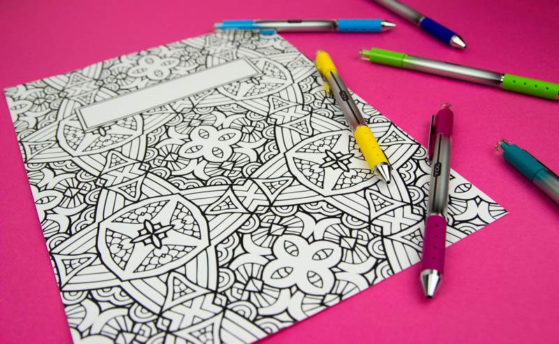 Coloring Book Binder Covers Free Printable A Little