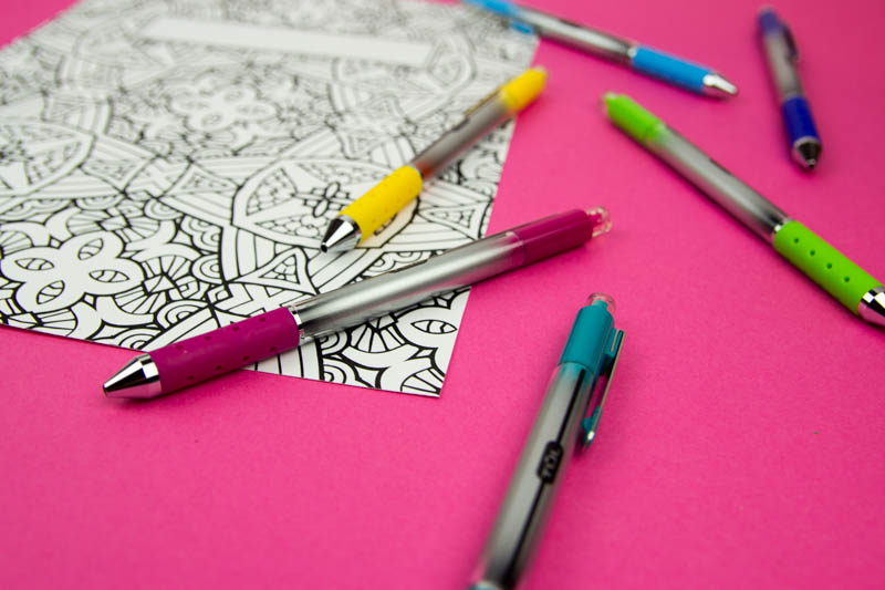 Coloring Book Binder Covers- Free Printable