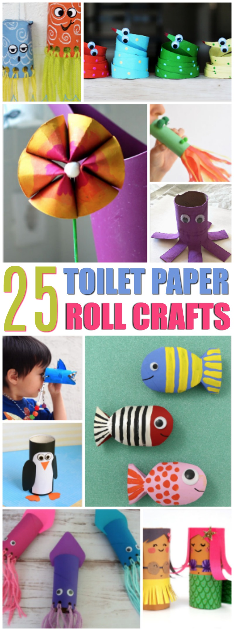 I Hope You Enjoy These Super Fun Kid Friendly Toilet Paper Roll Craft Ideas