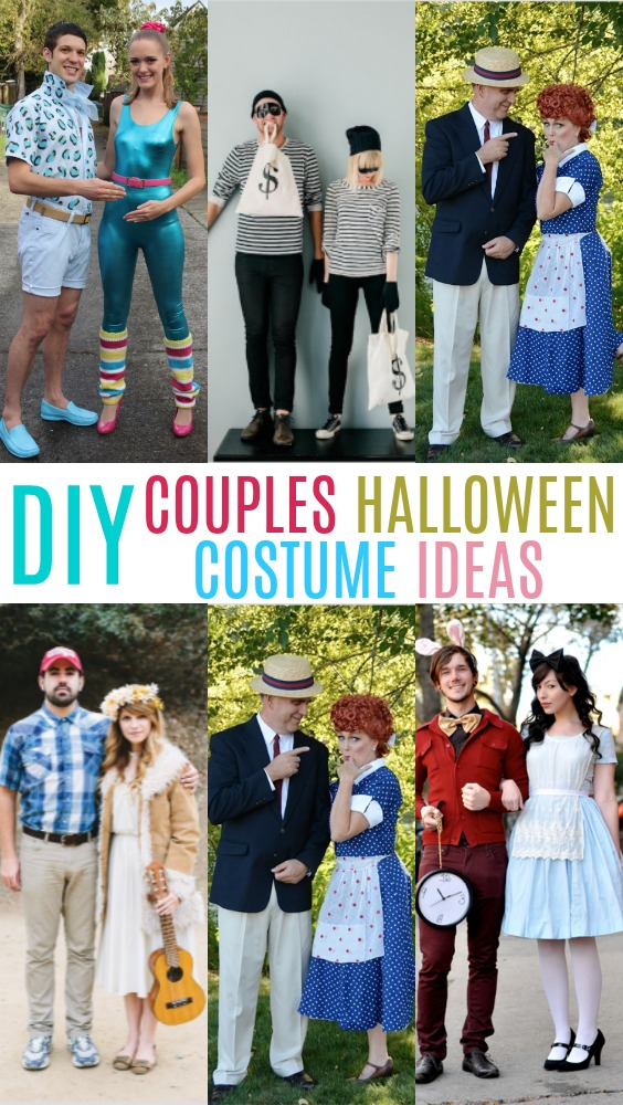 all of these ideas can be diy and you can make them original but here are some adorable couples costume ideas you can make yourself just in time for this