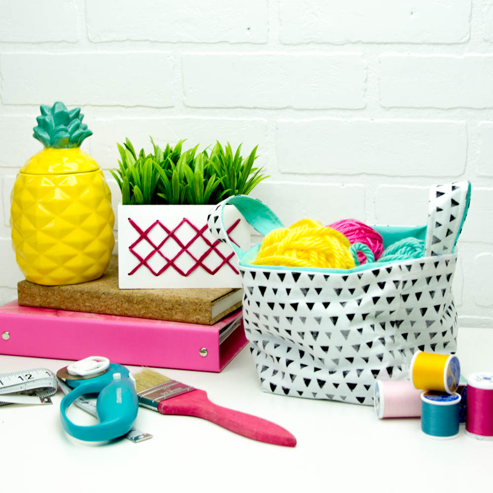 Cricut Maker Sewing Project, How to sew a Small Basket