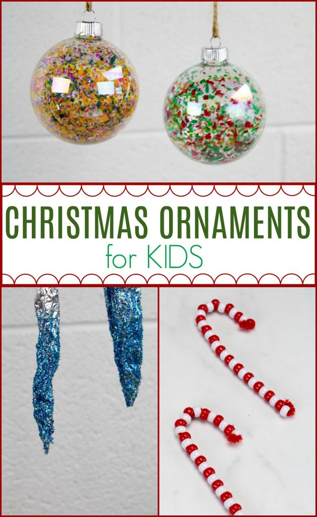 3 Easy Christmas Ornaments For Kids A Little Craft In Your Day