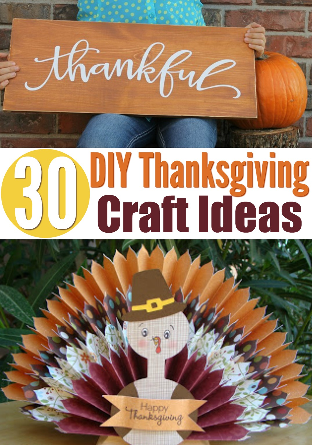 30 DIY Thanksgiving Craft Ideas - A Little Craft In Your Day