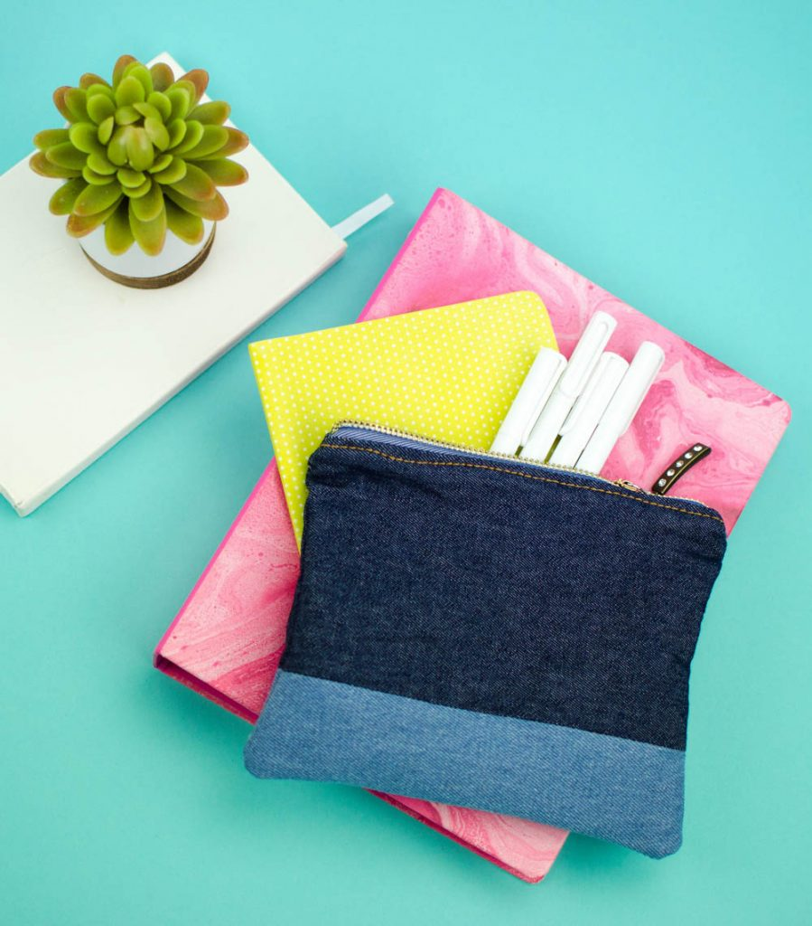 DIY Denim Pouch - A Little Craft In Your Day