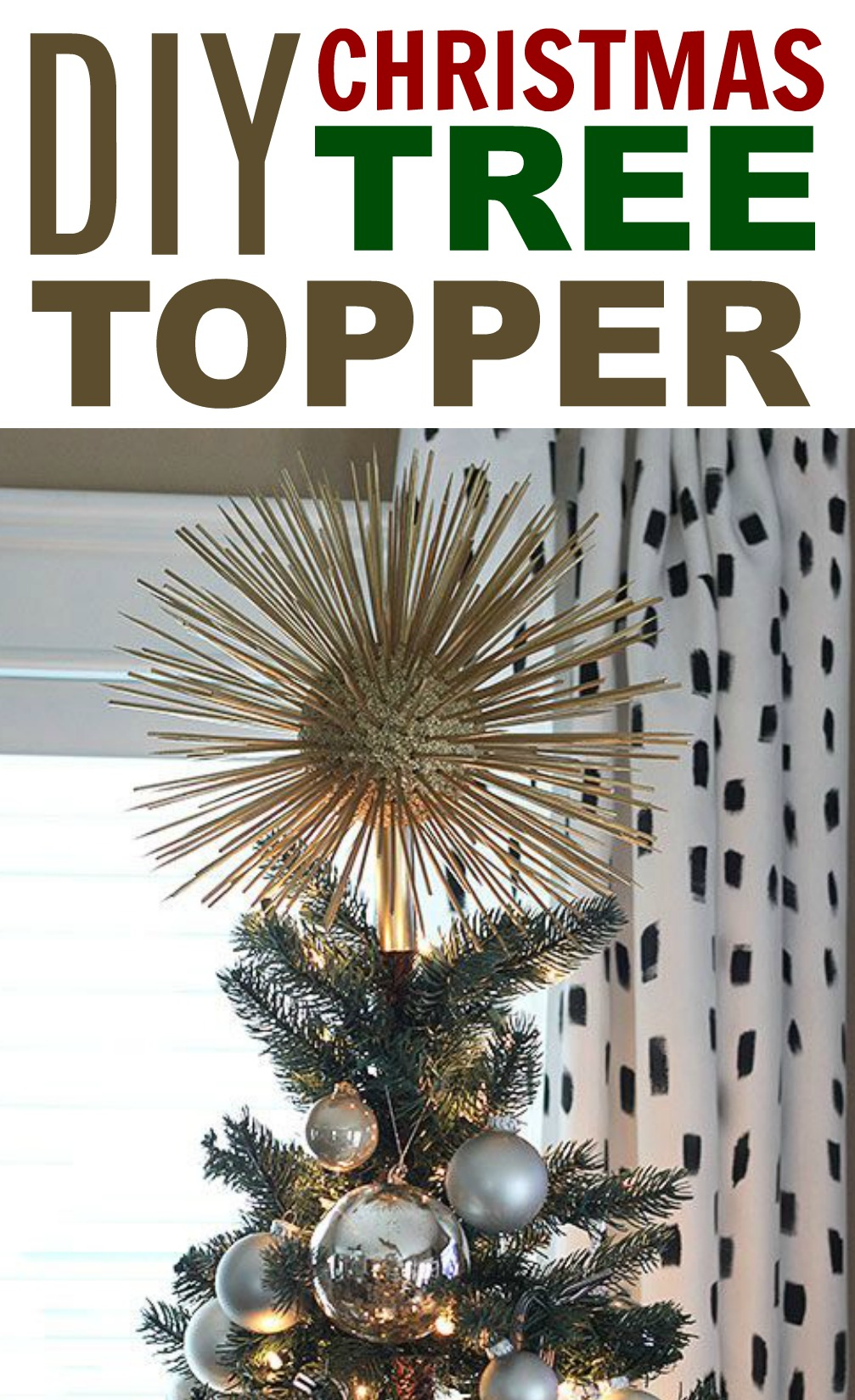 1231 diy christmas tree topper - How To Make A Christmas Tree Topper