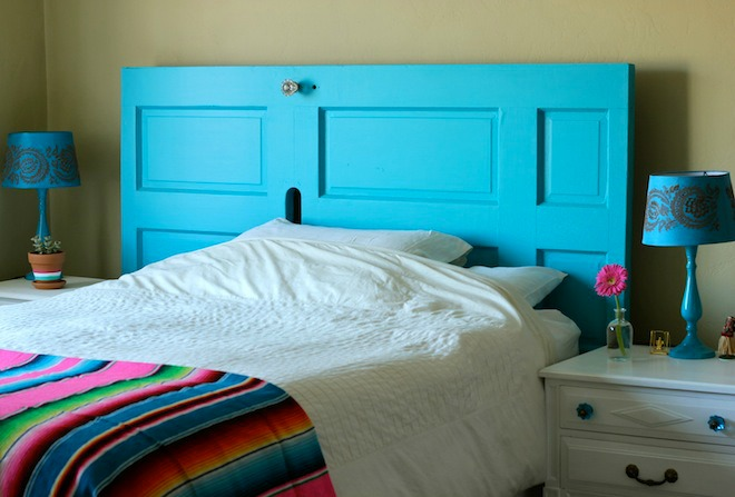 diy door headboard