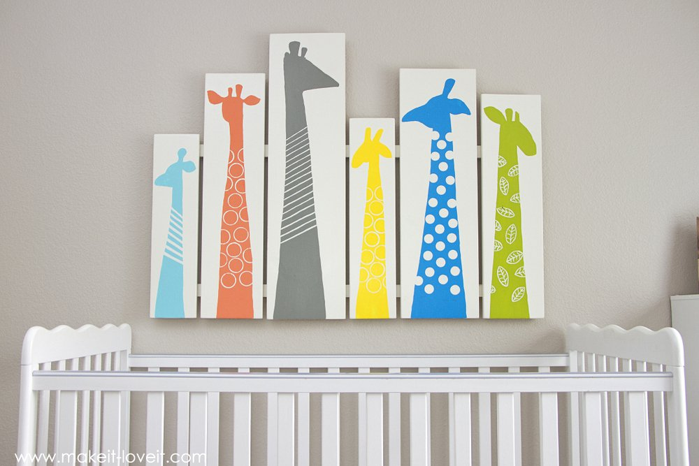 DIY Giraffe Nursery Art