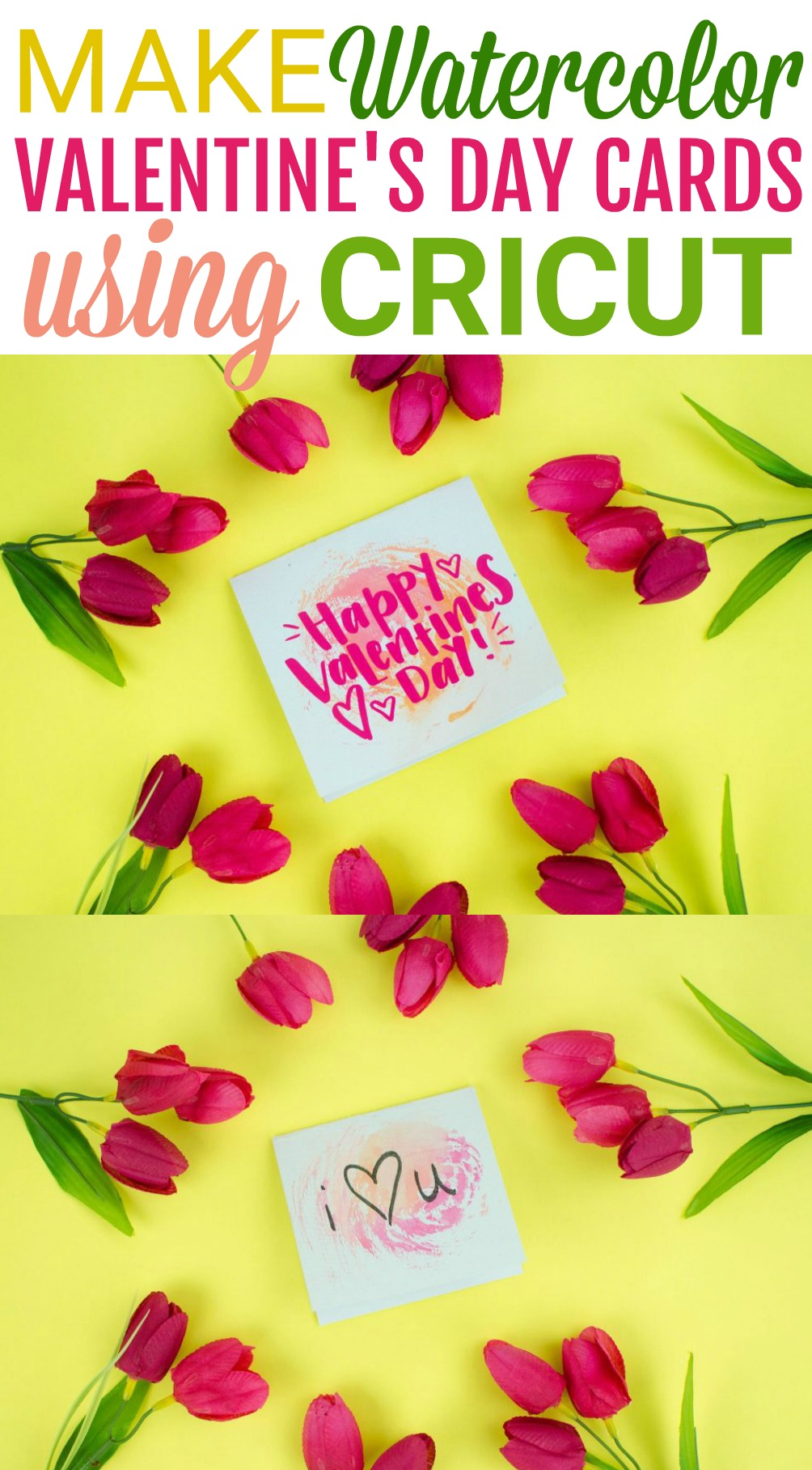 Easy Diy Cricut Valentine S Day Cards A Little Craft In Your Day