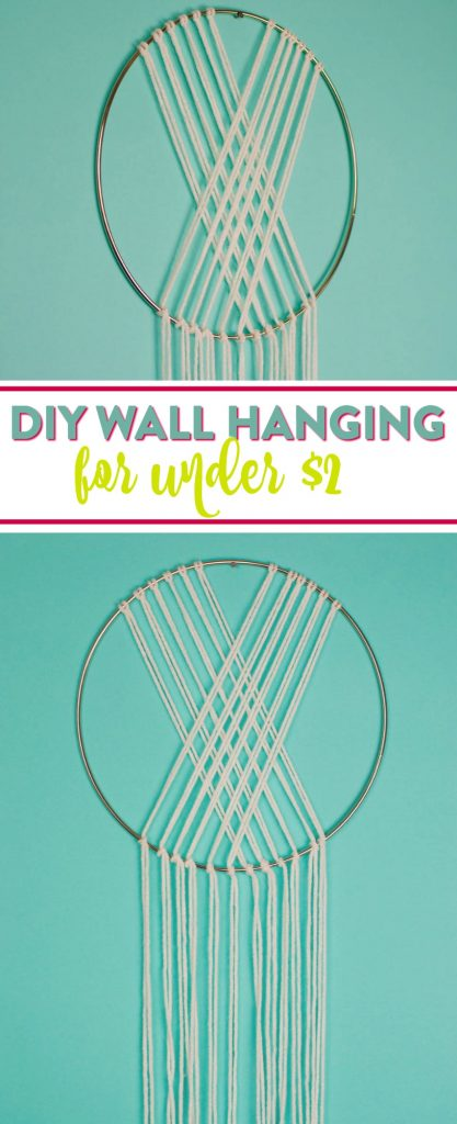 Diy Yarn Wall Hanging A Little Craft In Your Day