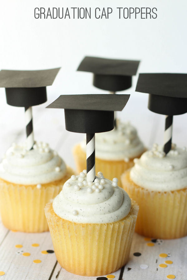 Graduation Hat Toppers And Straws