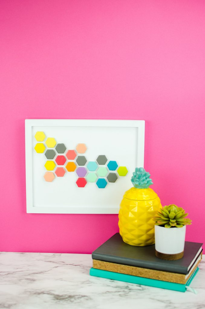 DIY Hexagon Tile Art