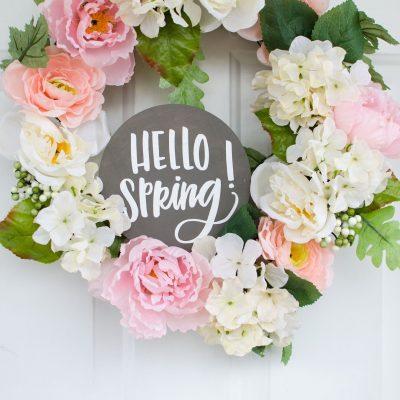DIY Spring Wreath With Your Cricut thumbnail