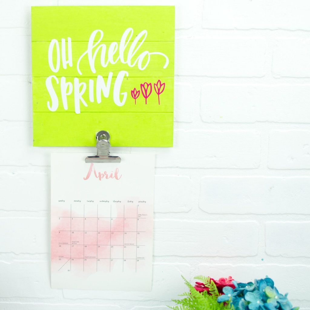 Diy Calendar Holder : Diy spring calendar holder a little craft in your day