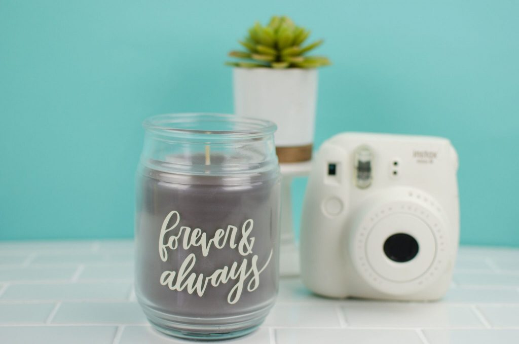 """DIY """"Forever & Always"""" Candle"""
