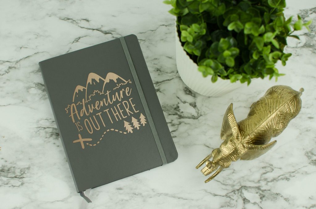"DIY ""Adventure Is Out There"" Notebook"