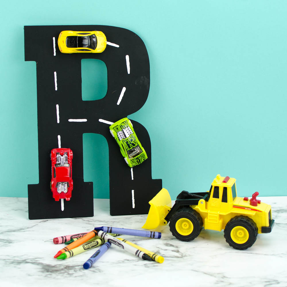 Diy Racetrack Letter Wall Art Perfect For Boy S Room Decor