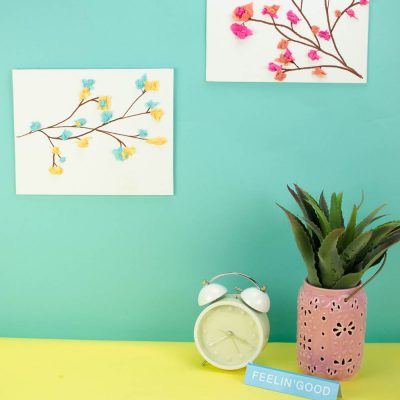 DIY Tissue Paper Flower Canvas thumbnail