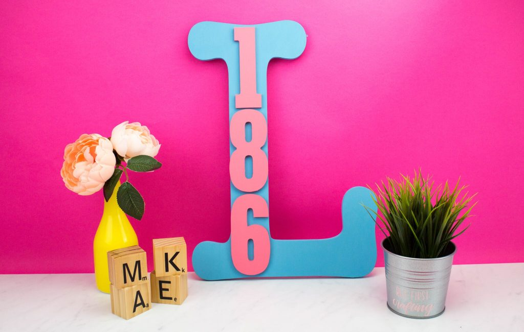 DIY Initial House Address Plaque
