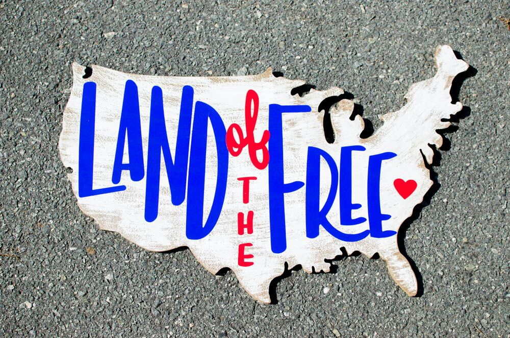 USA Land Of The Free Plaque