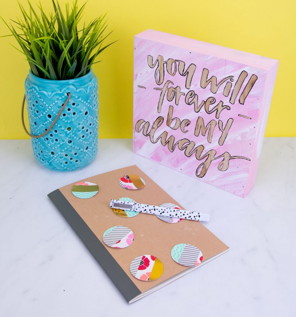 Washi Tape Accent Notebook