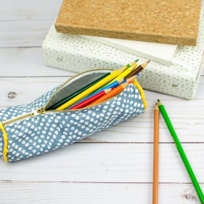 Easy DIY Pencil Case with Piping thumbnail