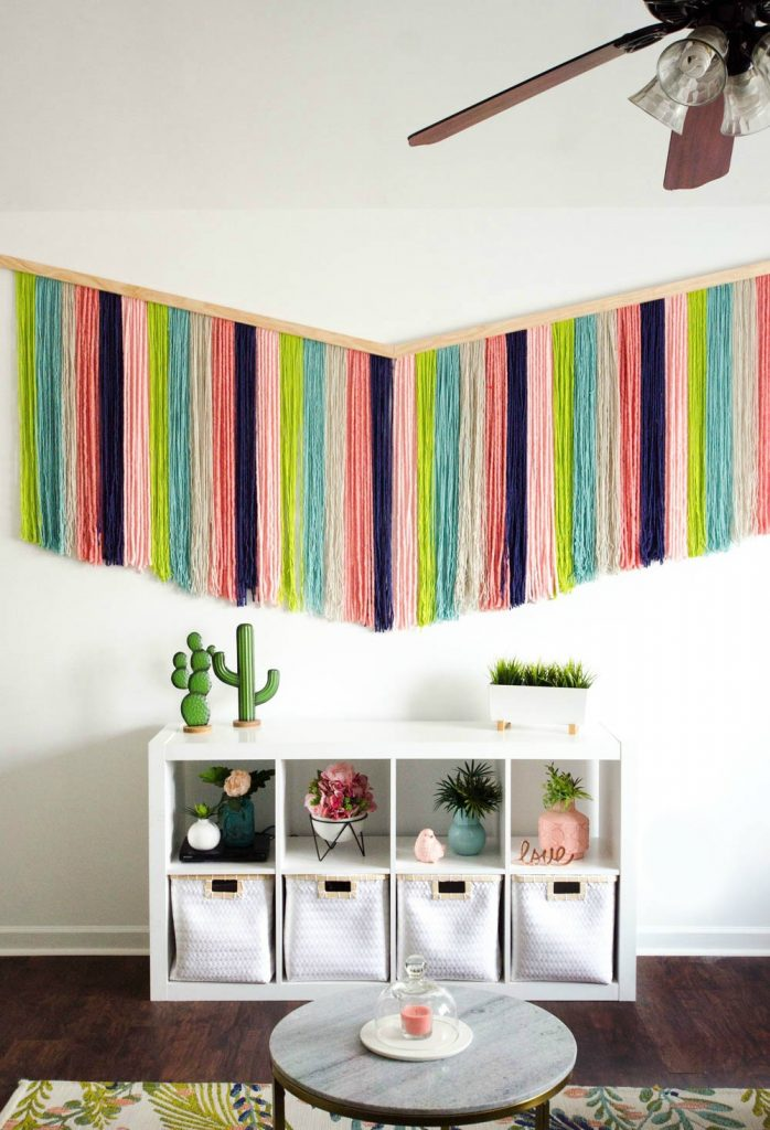 How To Make A Diy Yarn Wall Hanging A Little Craft In Your Day