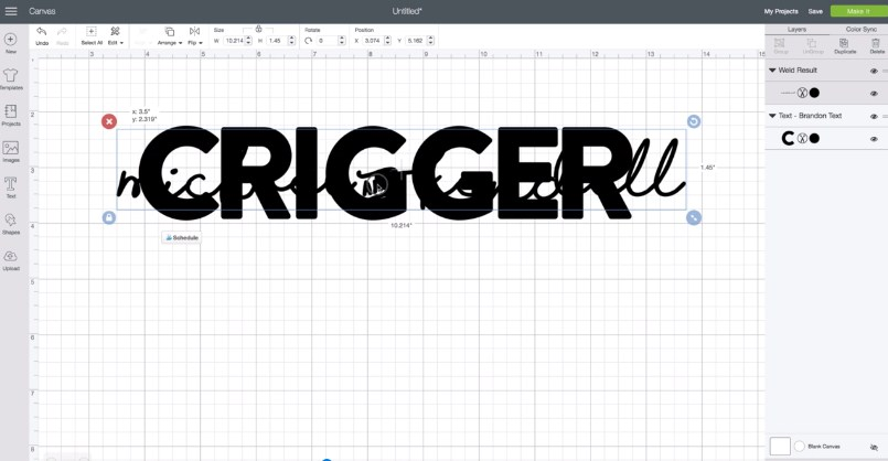 How To Knockout Text In Cricut Design Space