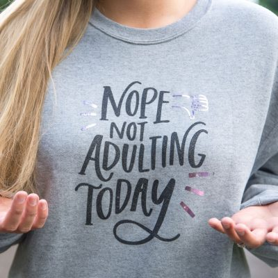 How To Layer Iron-On – DIY Cricut Sweatshirt thumbnail