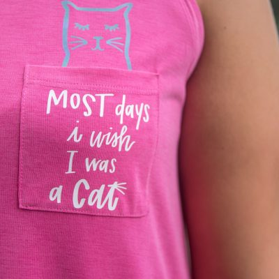 DIY Cricut Shirt – Kitty Pocket Tee thumbnail