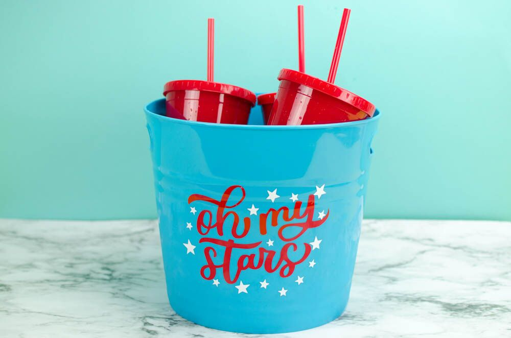 Simple Patriotic Cooler Decal