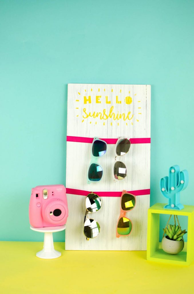Hello Sunshine Sunglass Holder - Teen Summer Craft