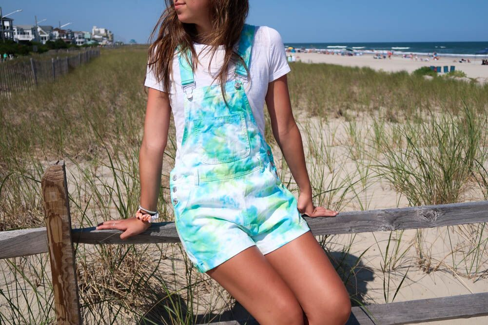 Easy Tie Dyed Overalls