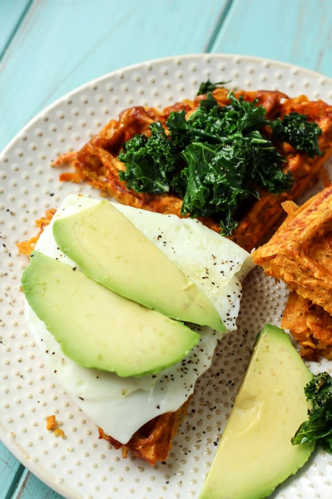PALEO SWEET POTATO WAFFLE BREAKFAST SANDWICH