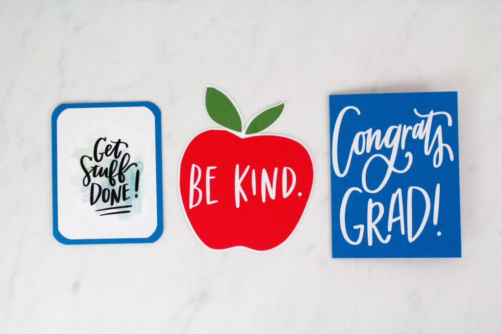 Easy DIY Back To School Cards - Cricut Craft