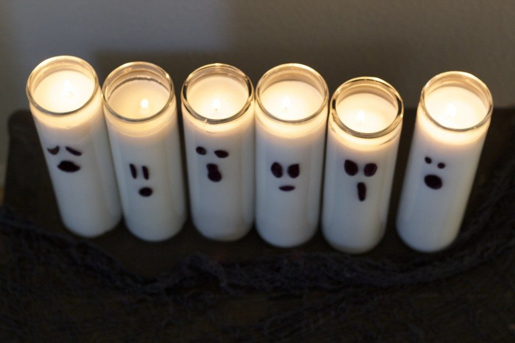 DIY Ghost Candles