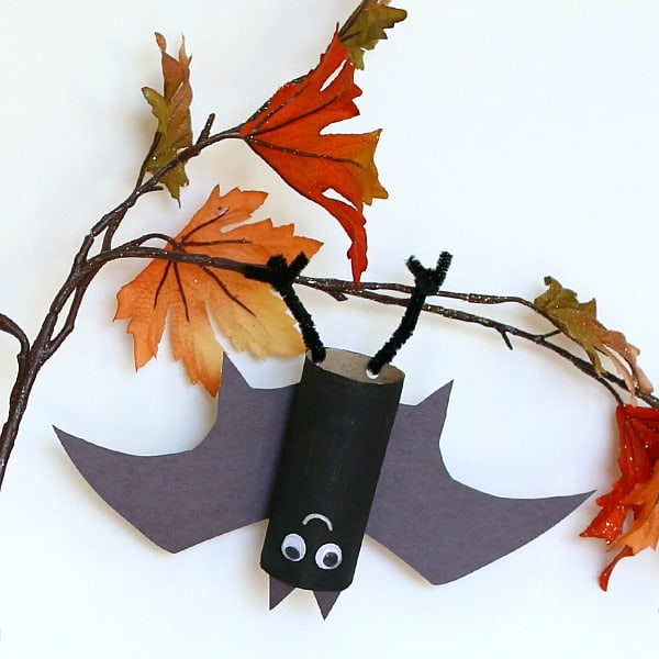 Hanging Bat Craft for Kids with Bat Wing Template