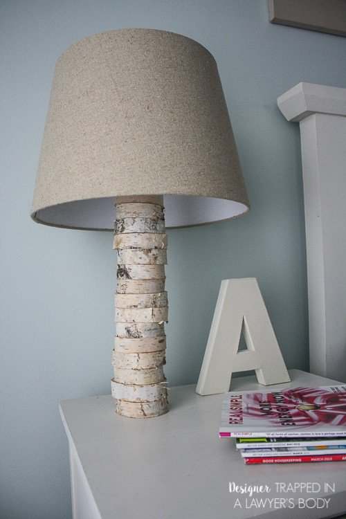 Stacked Wood Lamp