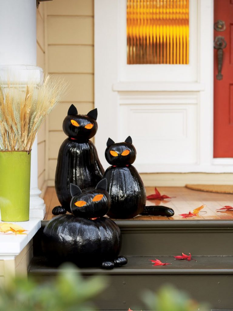 Make Black Cat O'Lanterns