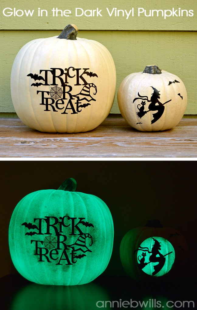 Glow in the Dark Vinyl Pumpkins
