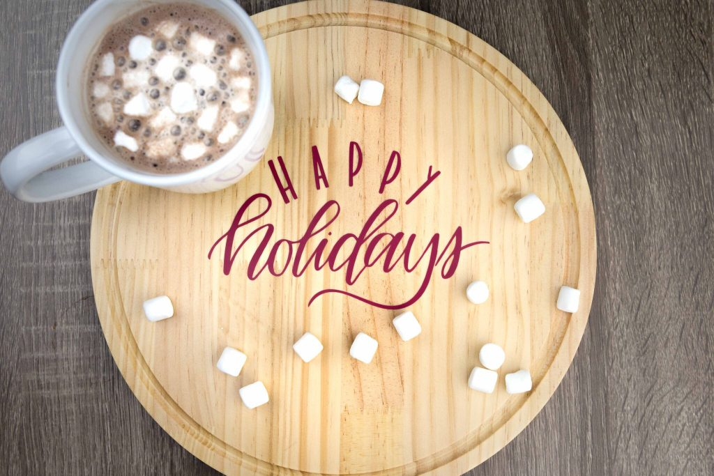 Vinyl Decal Holiday Serving Tray
