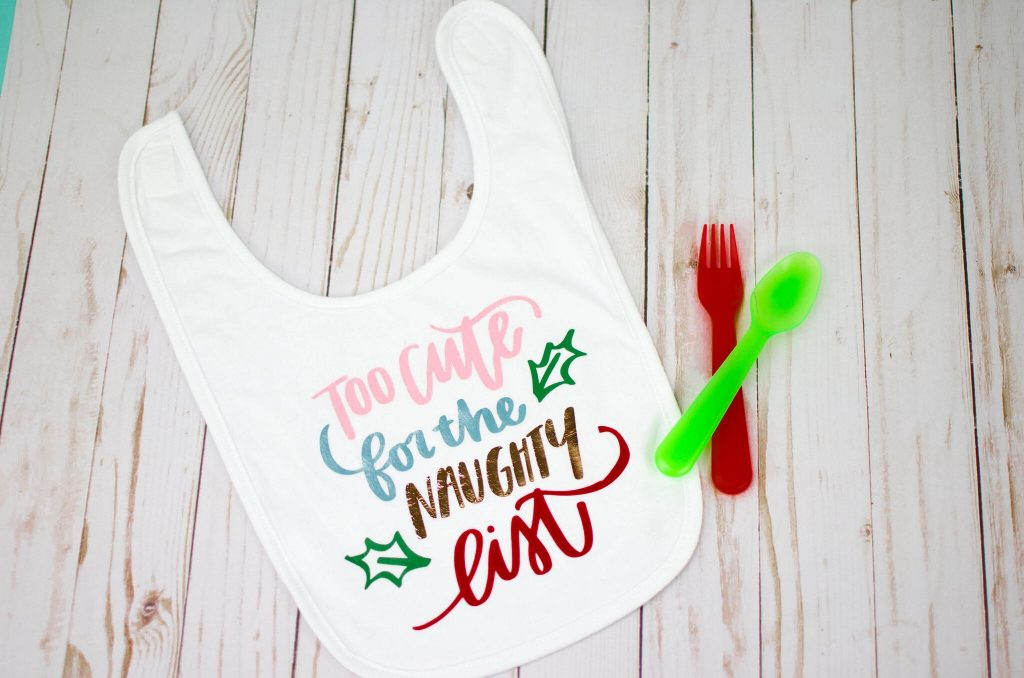 Cute Iron-On Christmas Baby Bib
