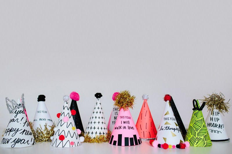 New Year's Resolution Party Hats