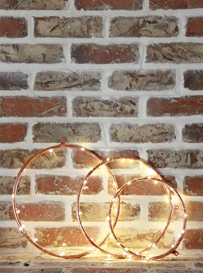 DIY Copper Lighted Wreath