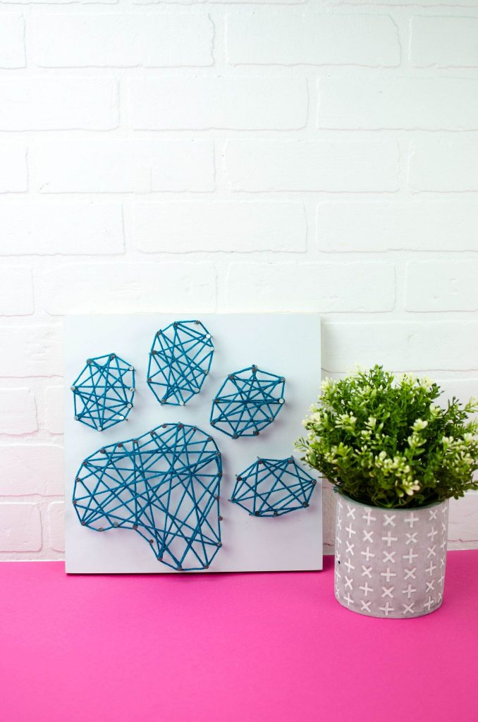 DIY Paw String Art
