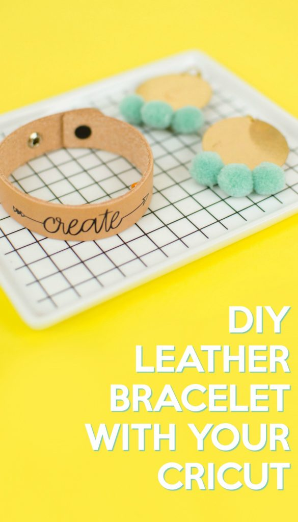 DIY Leather bracelet with Cricut tutorial