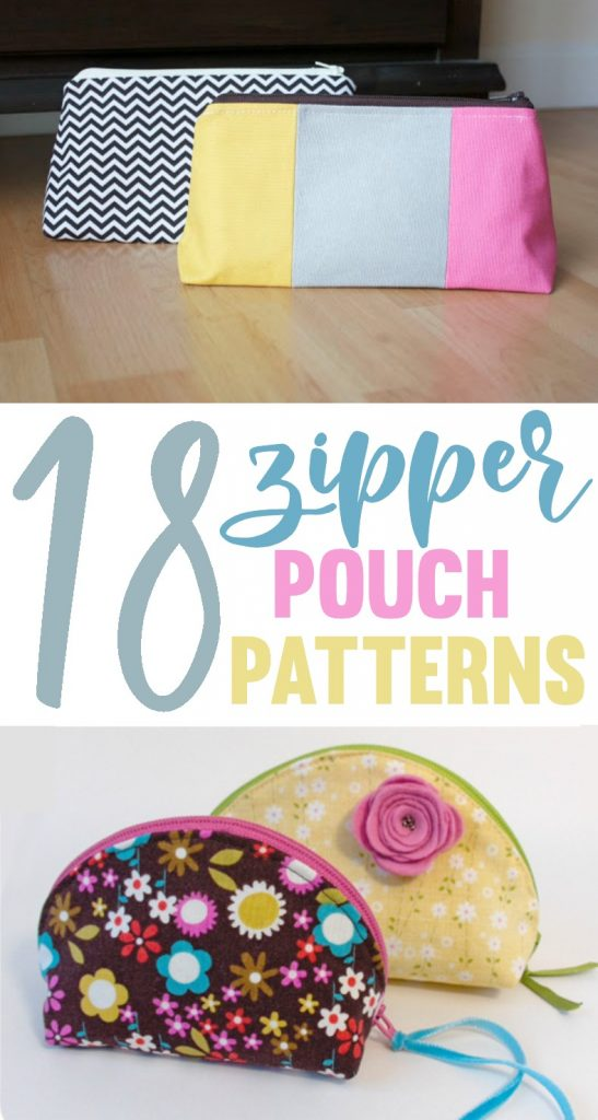 18 Zipper Pouch Patterns A Little Craft In Your Day